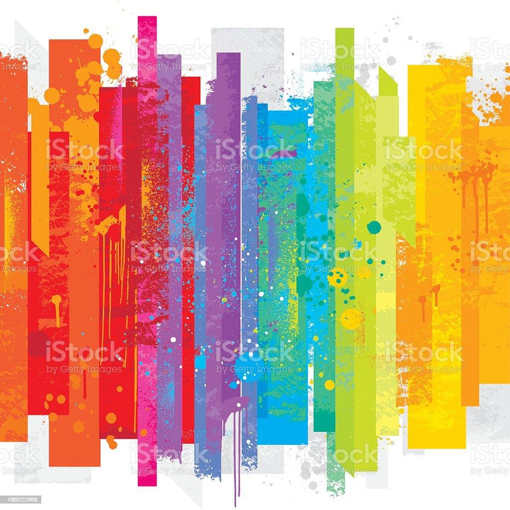 Grunge rainbow background vector art illustration