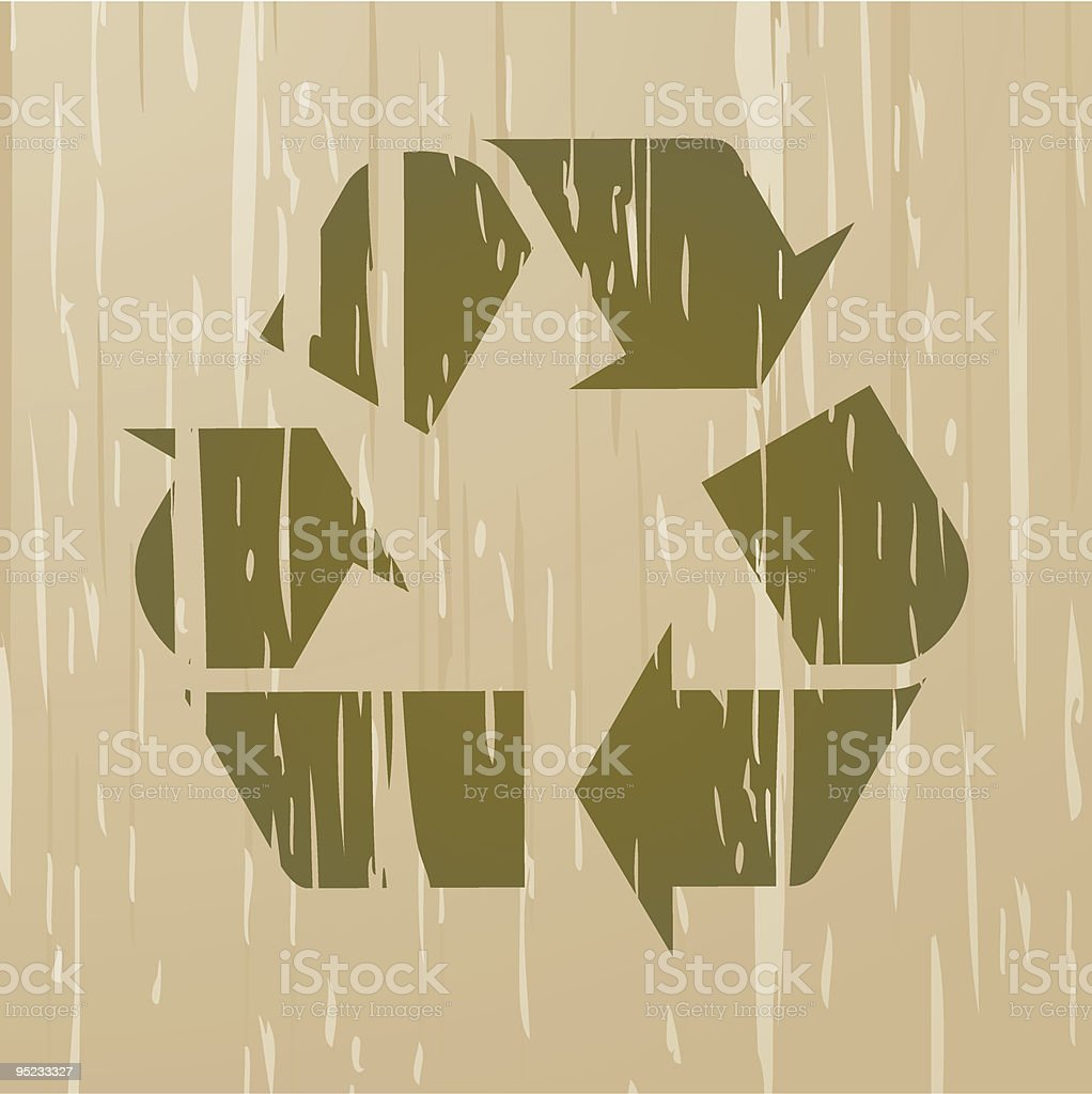 Grunge Recycle Symbol royalty-free stock vector art