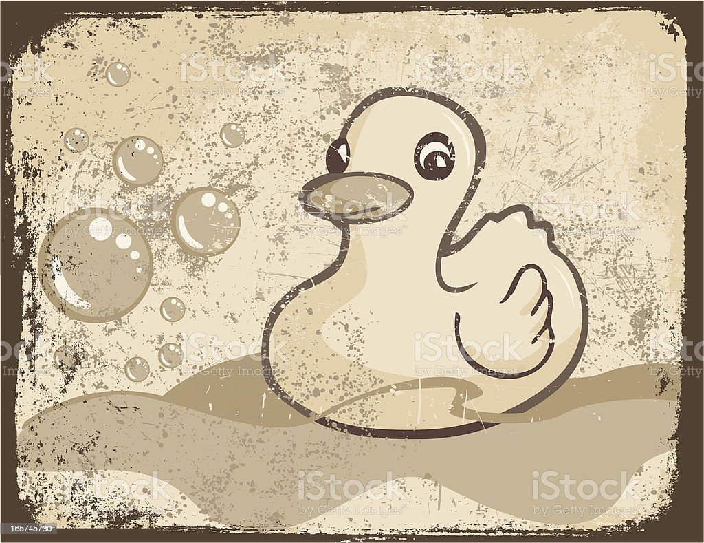 Grunge Rubber Ducky royalty-free stock vector art