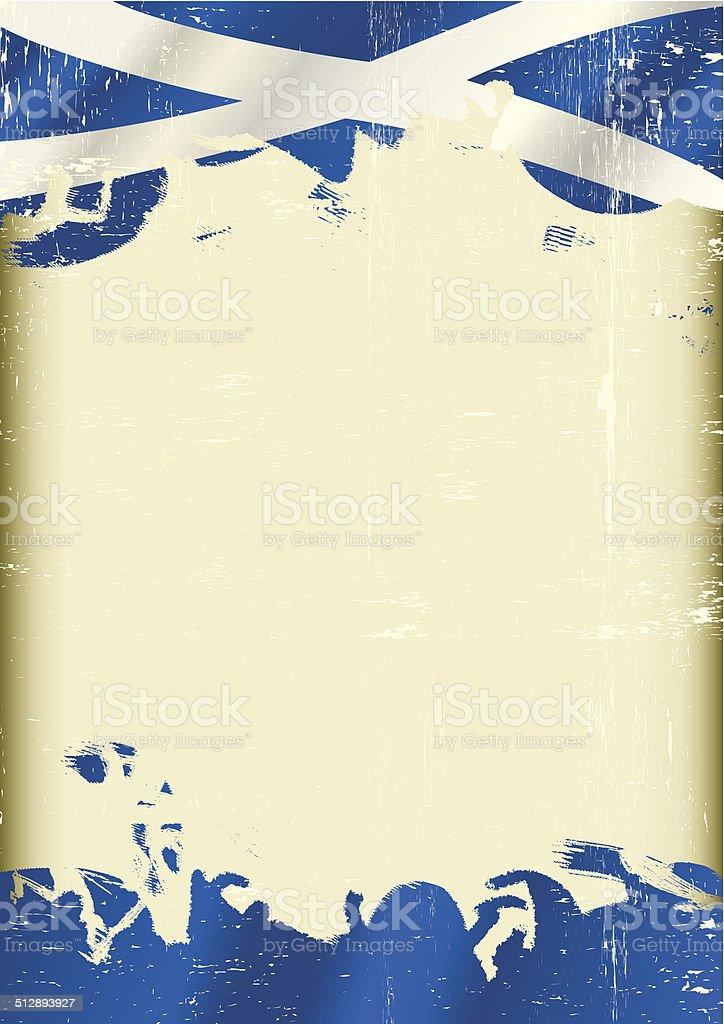 Grunge Scottish flag vector art illustration