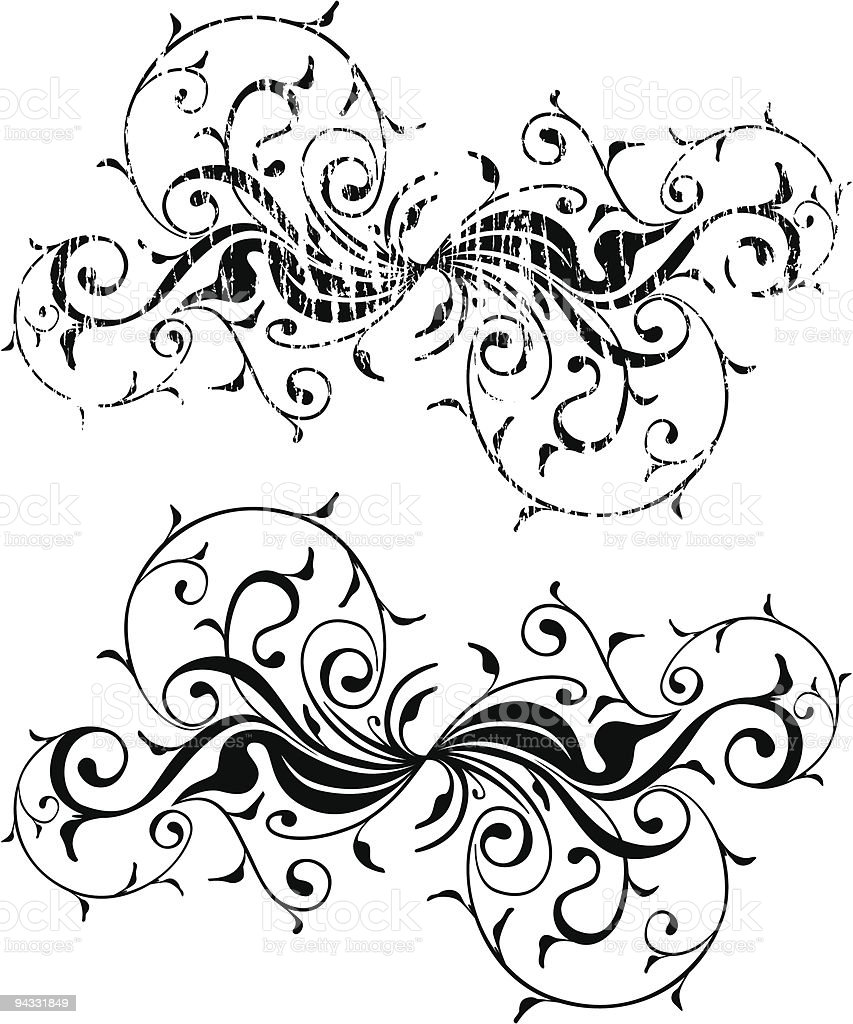 Grunge Scroll 04 vector art illustration