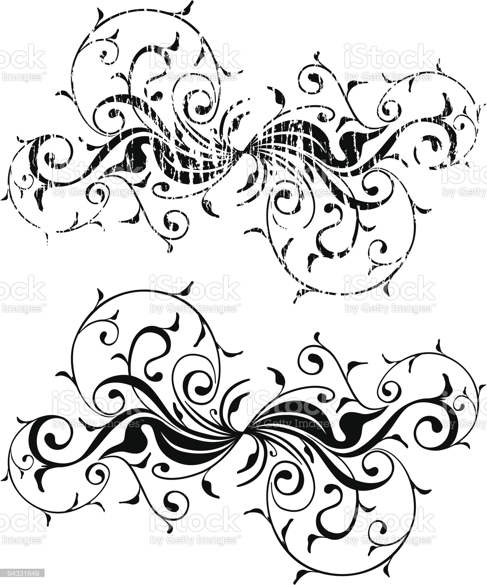 Grunge Scroll 04 royalty-free stock vector art