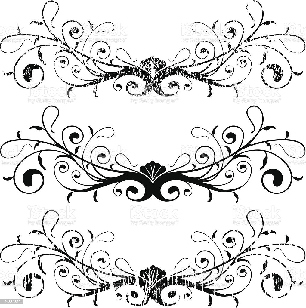 Grunge Scroll 09 vector art illustration