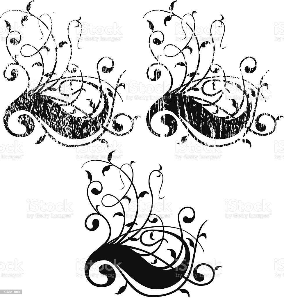 Grunge Scroll 12 vector art illustration
