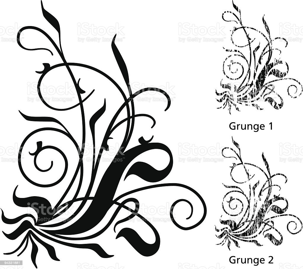 Grunge Scroll 15 vector art illustration
