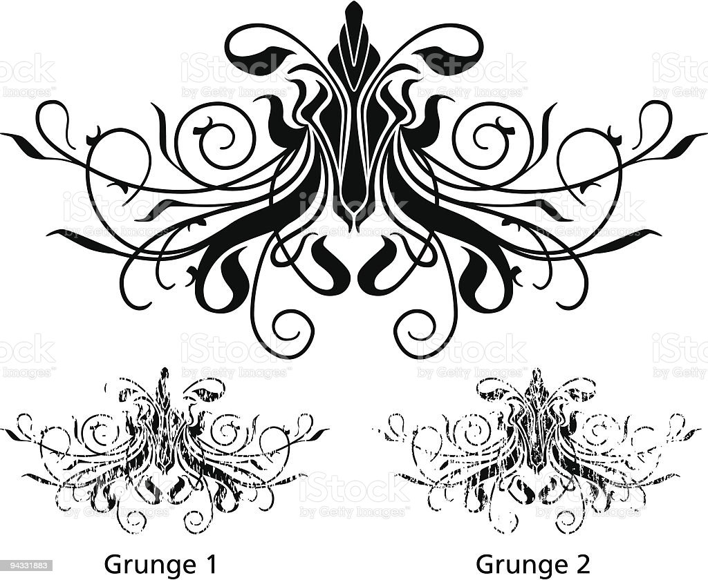 Grunge Scroll 18 royalty-free stock vector art