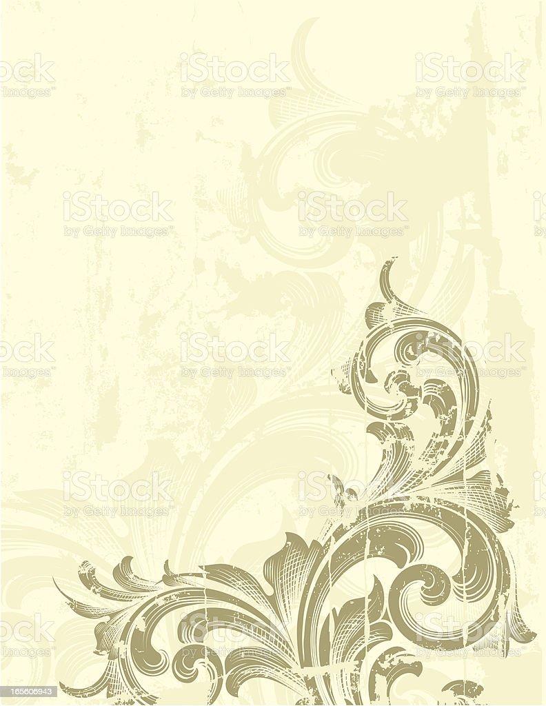 Grunge Scroll Bottom royalty-free stock vector art