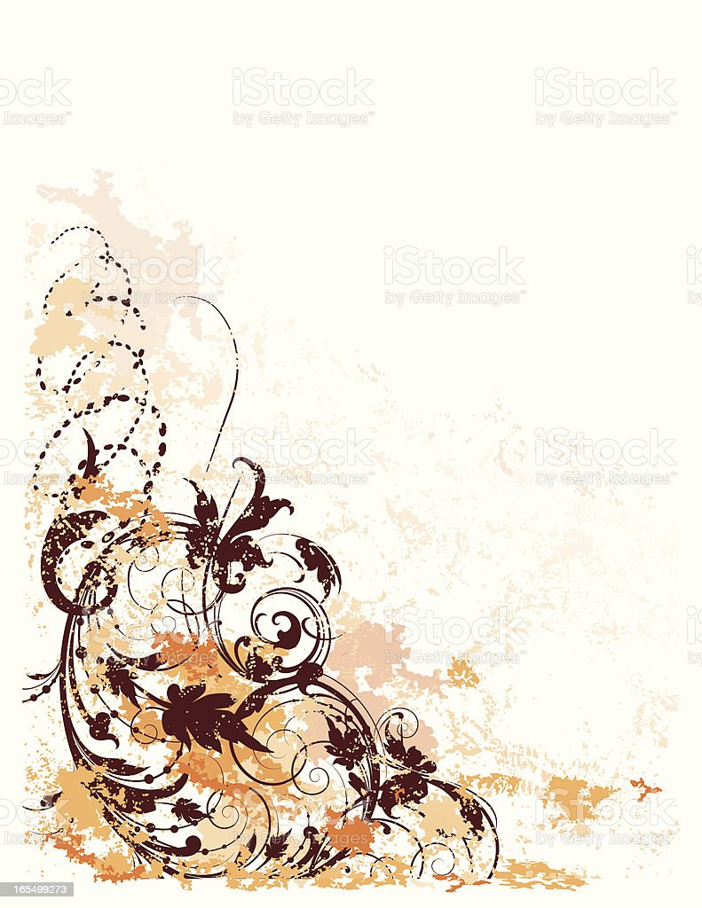 Grunge Scroll Page royalty-free stock vector art
