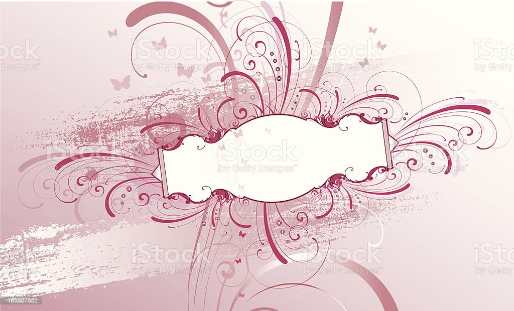 Grunge Scroll Panel vector art illustration