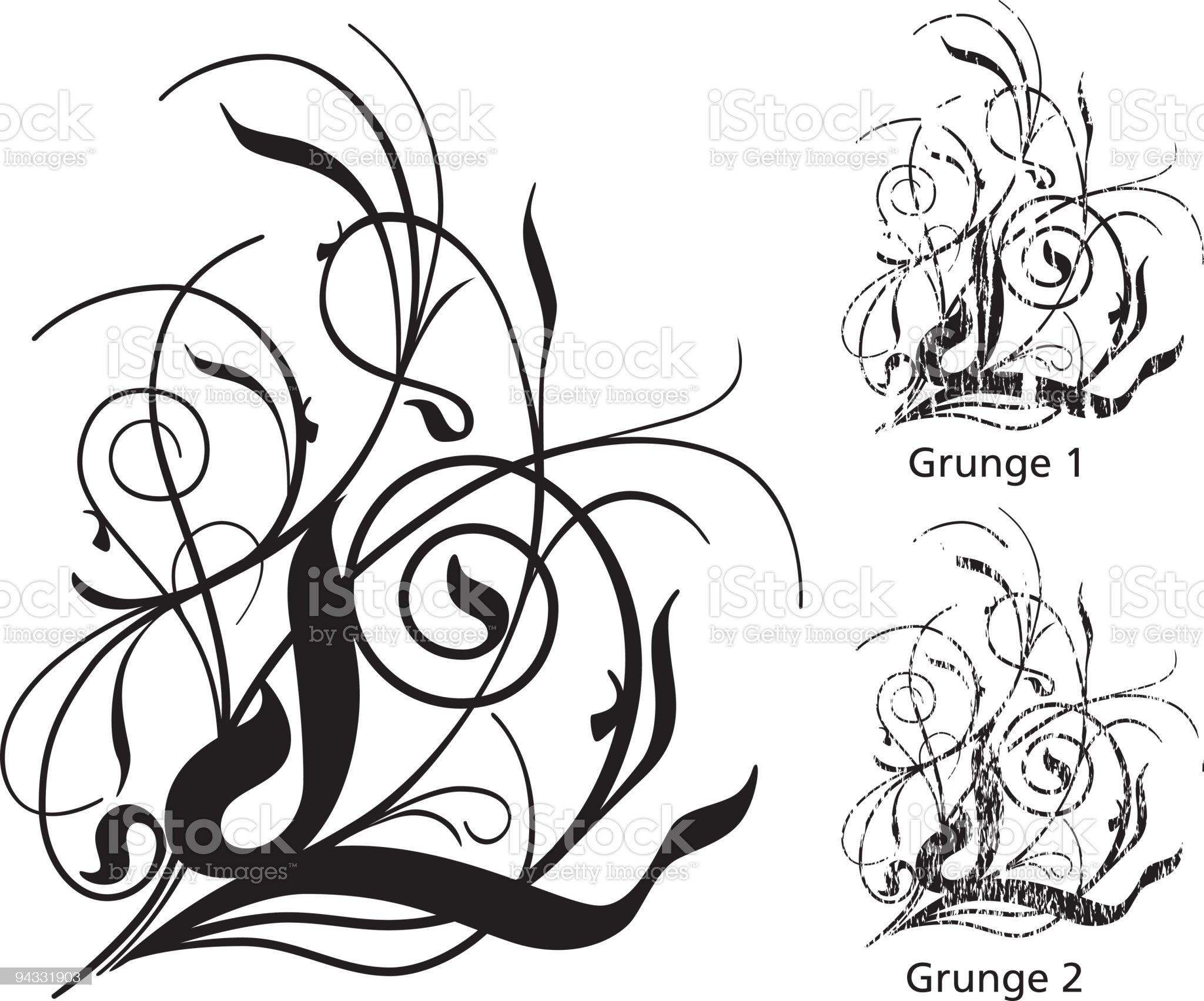 Grunge Scroll Series royalty-free stock vector art