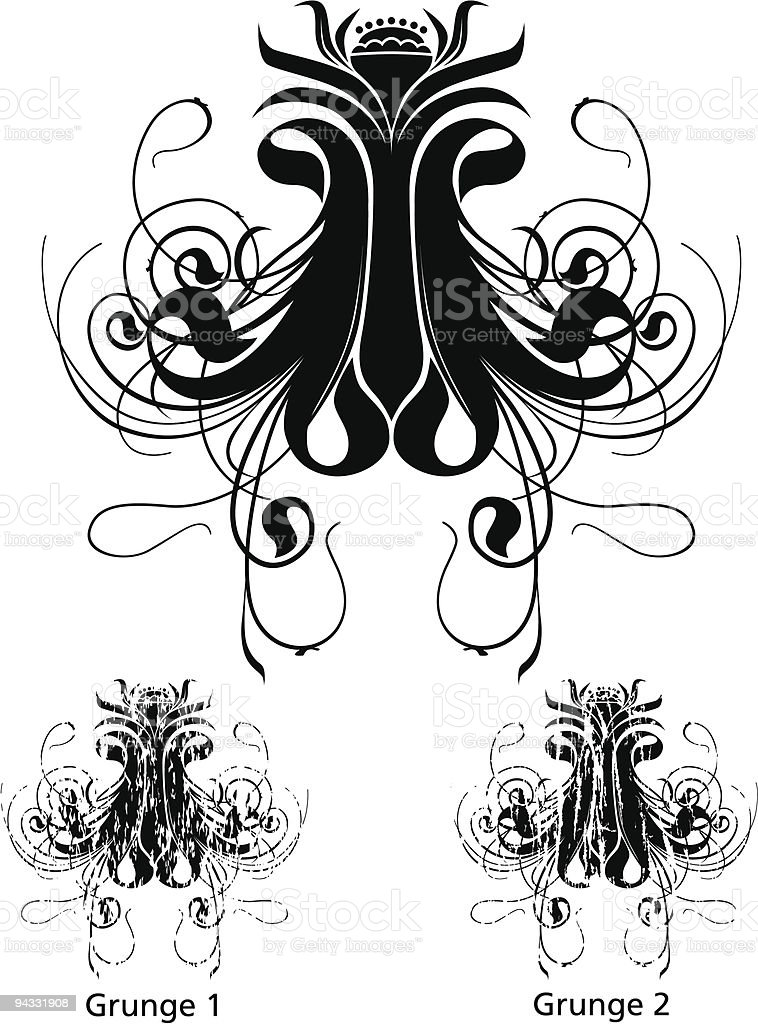 Grunge Scroll Series vector art illustration