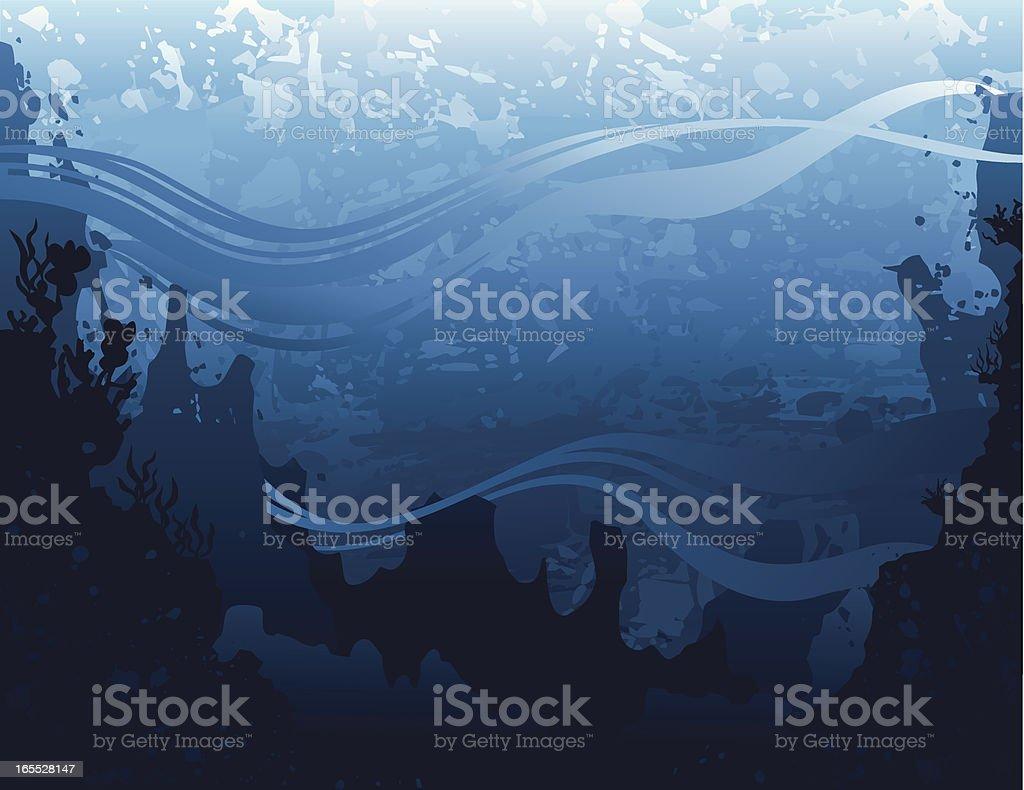 Grunge seascape royalty-free stock vector art