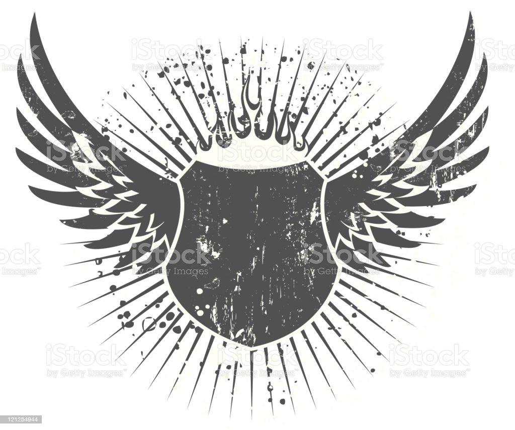 grunge shield royalty-free stock vector art