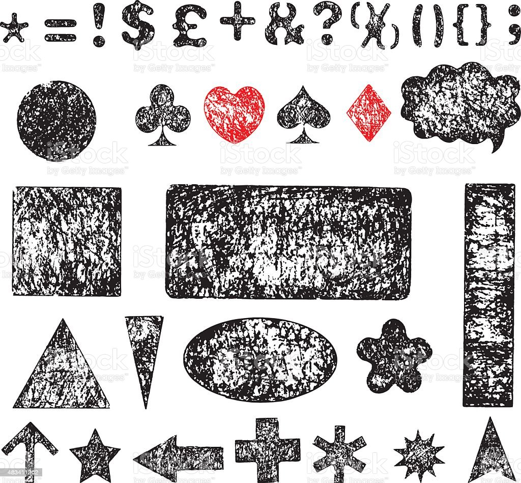 Grunge signs vector art illustration