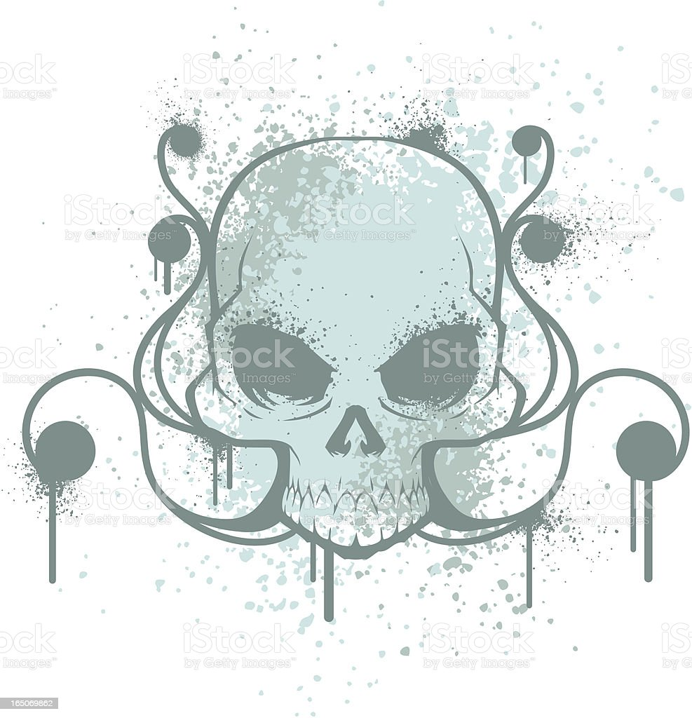 Grunge Skull v.2 royalty-free stock vector art