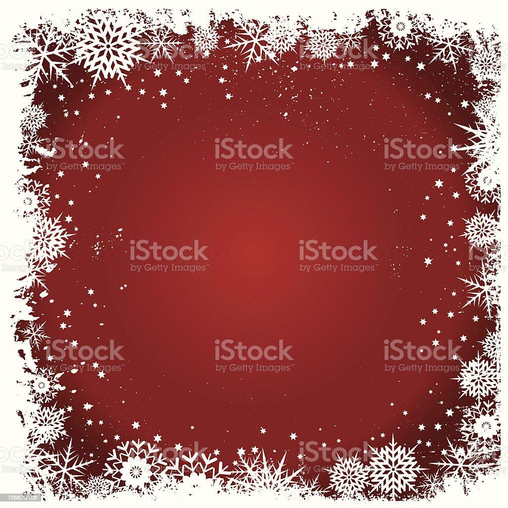 Grunge snowflake background royalty-free stock vector art