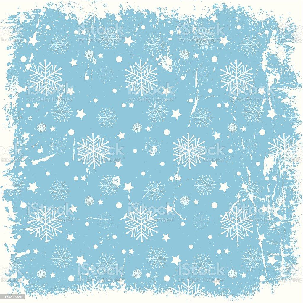 Grunge snowflake background vector art illustration