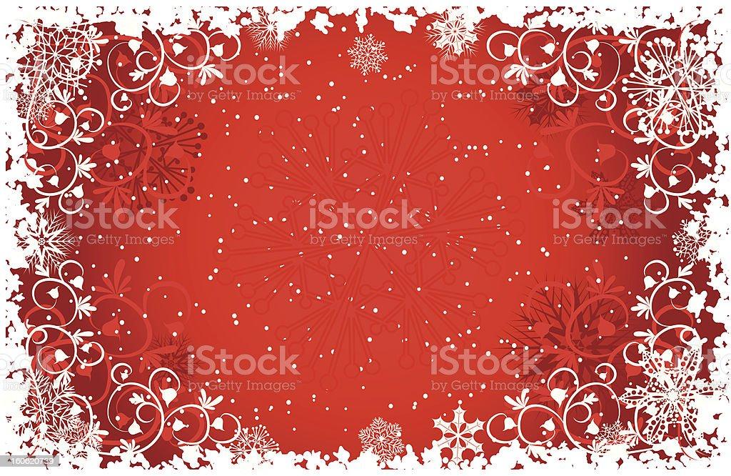 Grunge snowflakes background, vector vector art illustration