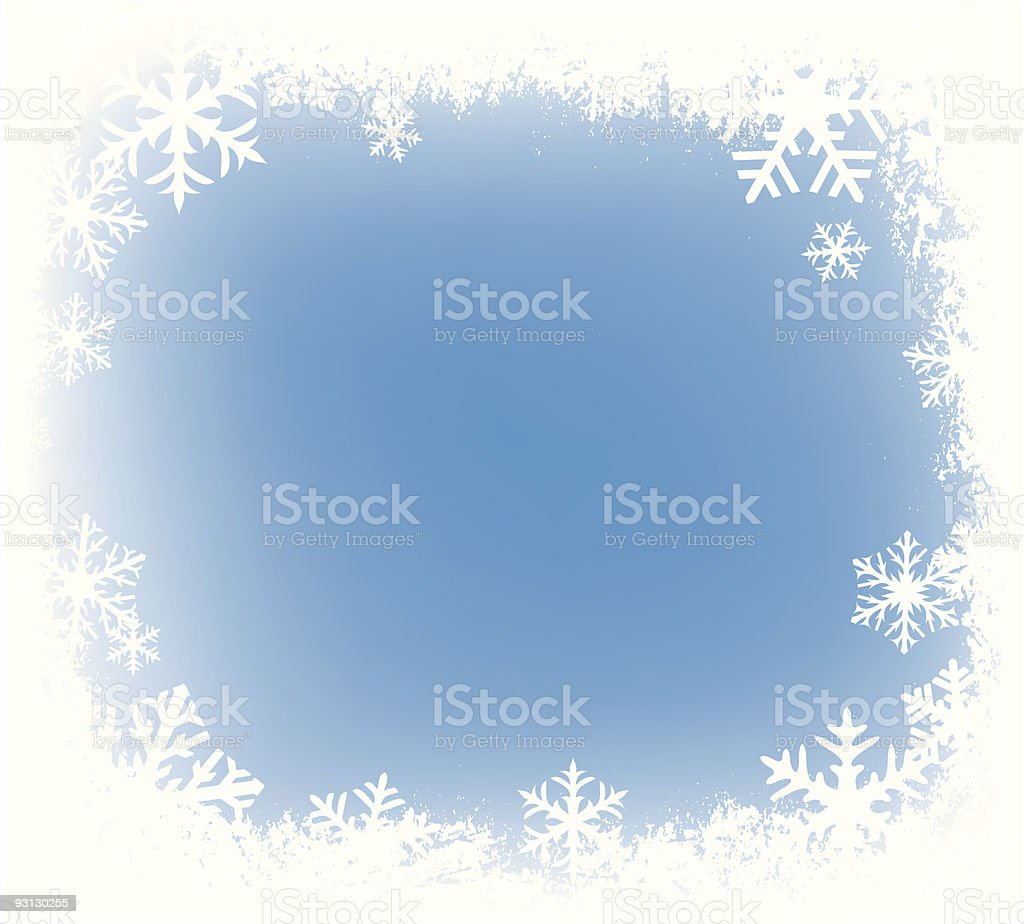 grunge snowflakes border royalty-free stock vector art