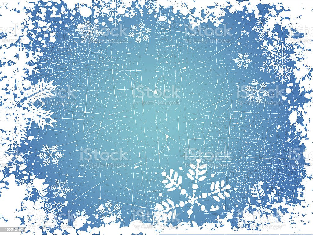 Grunge snowflakes royalty-free stock vector art