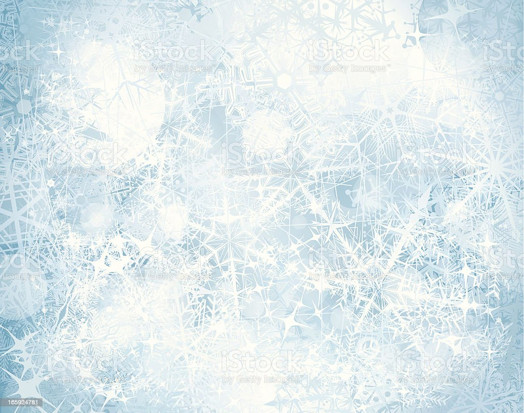 Grunge snowy background vector art illustration