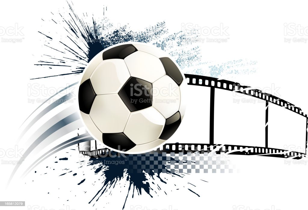 grunge soccer ball materials royalty-free stock vector art
