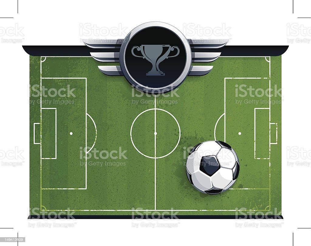 Grunge soccer field royalty-free stock vector art