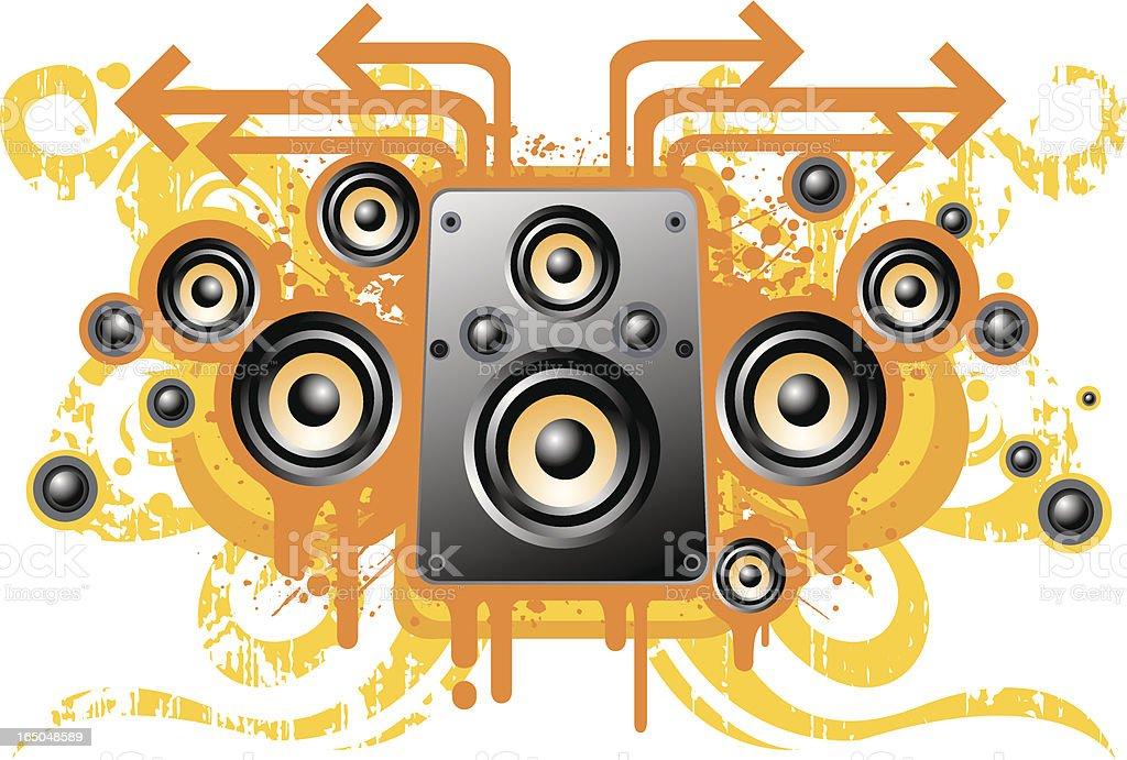 Grunge speaker design royalty-free stock vector art