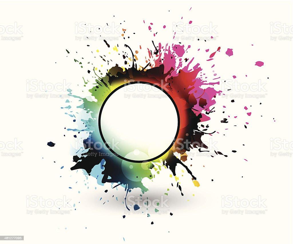 Grunge splashes royalty-free stock vector art