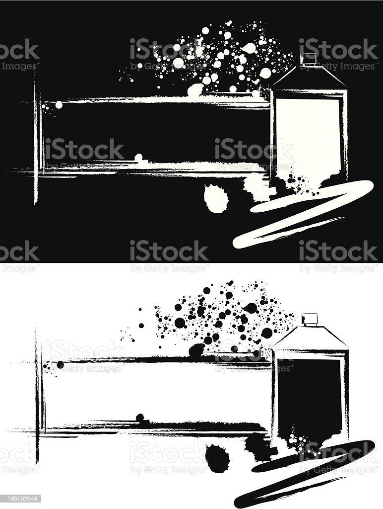 Grunge Spray Can vector art illustration