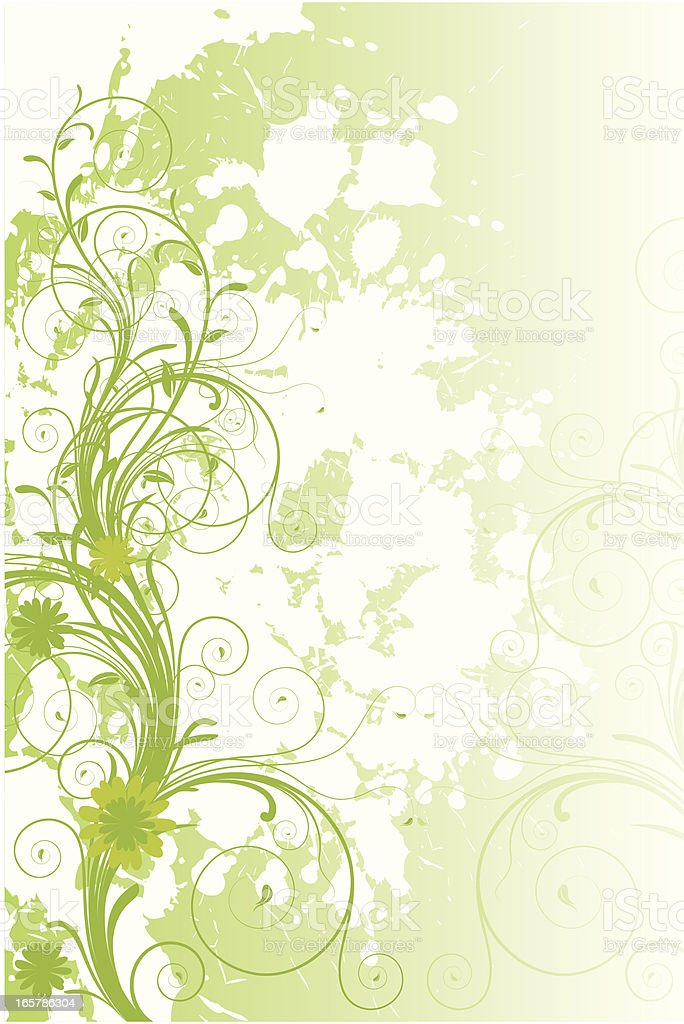 Grunge spring floral Background royalty-free stock vector art