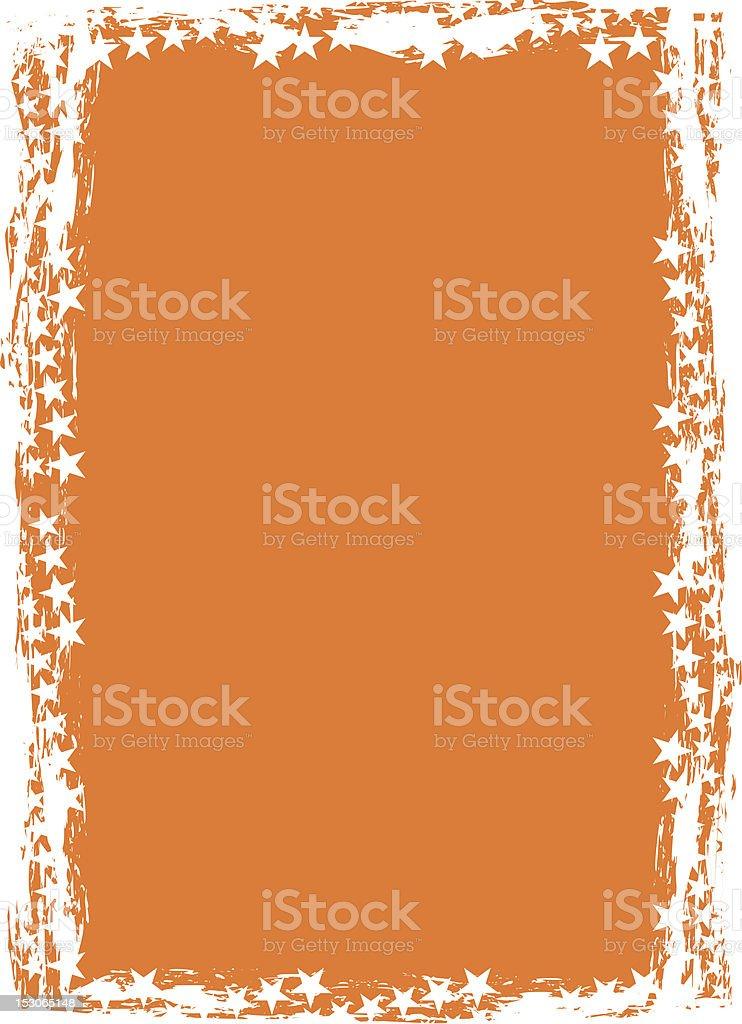 Grunge star background (frame, border), vector royalty-free stock vector art