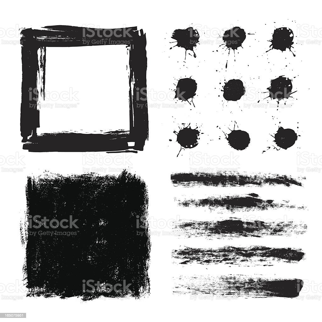 Grunge stripes and square design royalty-free stock vector art