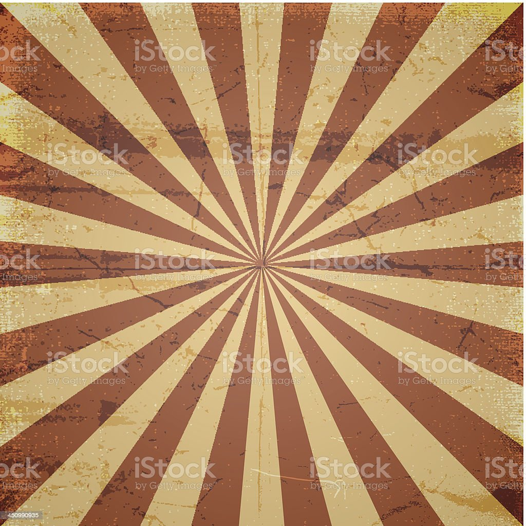 grunge sun ray scratched background vector art illustration