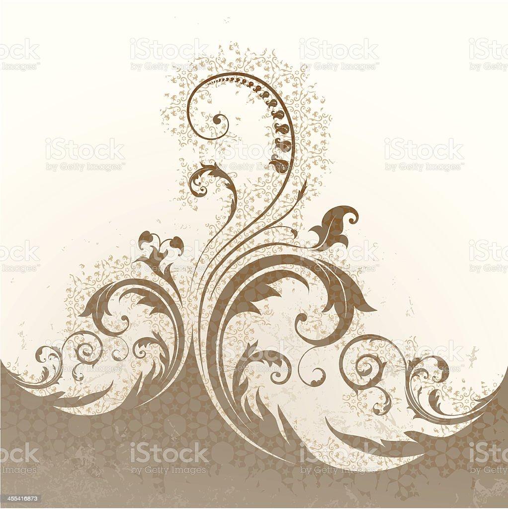 Grunge Swirl Background royalty-free stock vector art