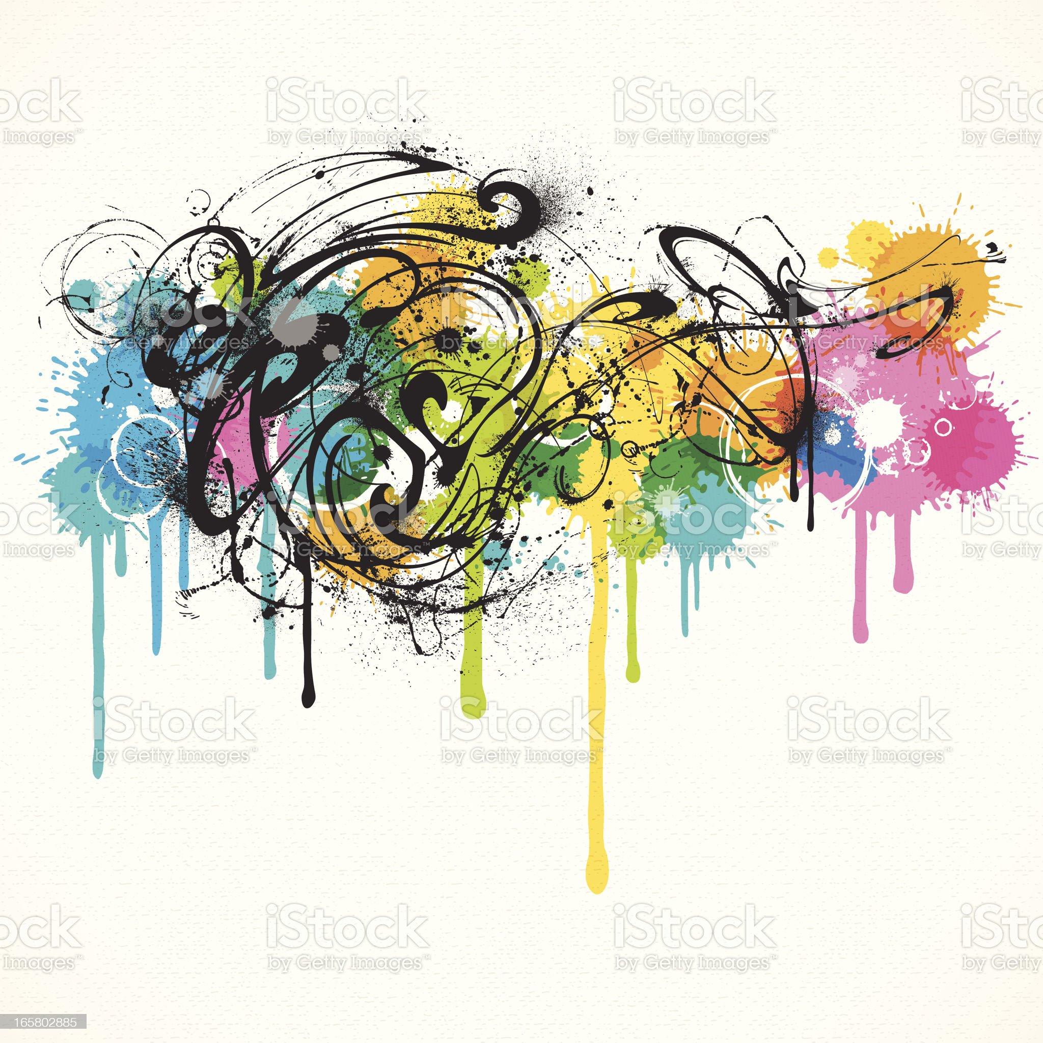 Grunge Swirls royalty-free stock vector art
