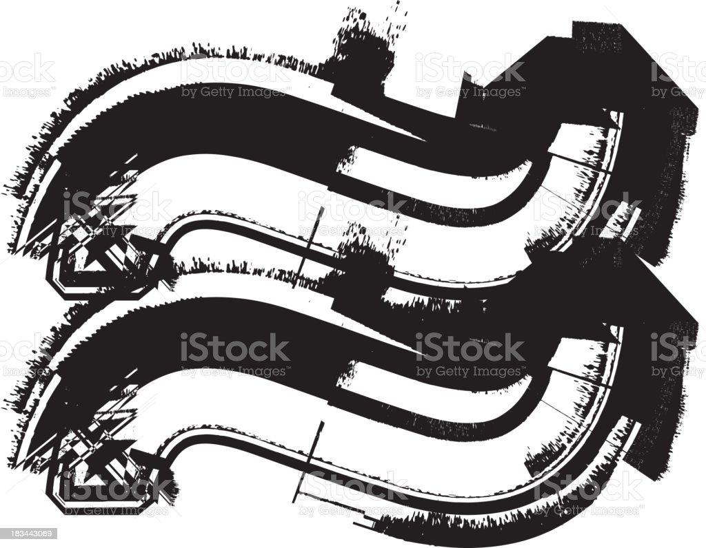 Grunge Symbol royalty-free stock vector art