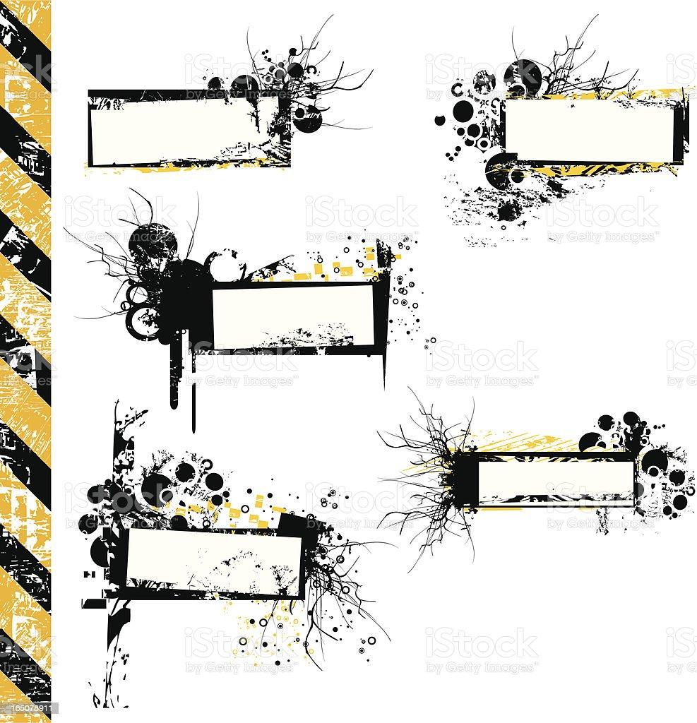 Grunge tags II royalty-free stock vector art