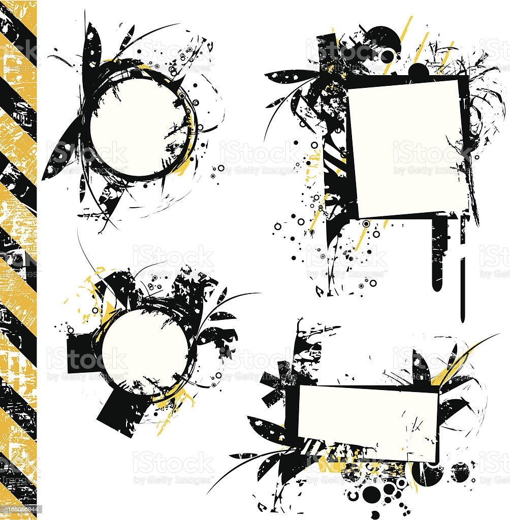 Grunge tags IV royalty-free stock vector art