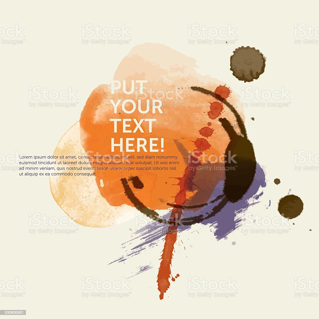 Grunge template: Water color n°3 (Stains) vector art illustration
