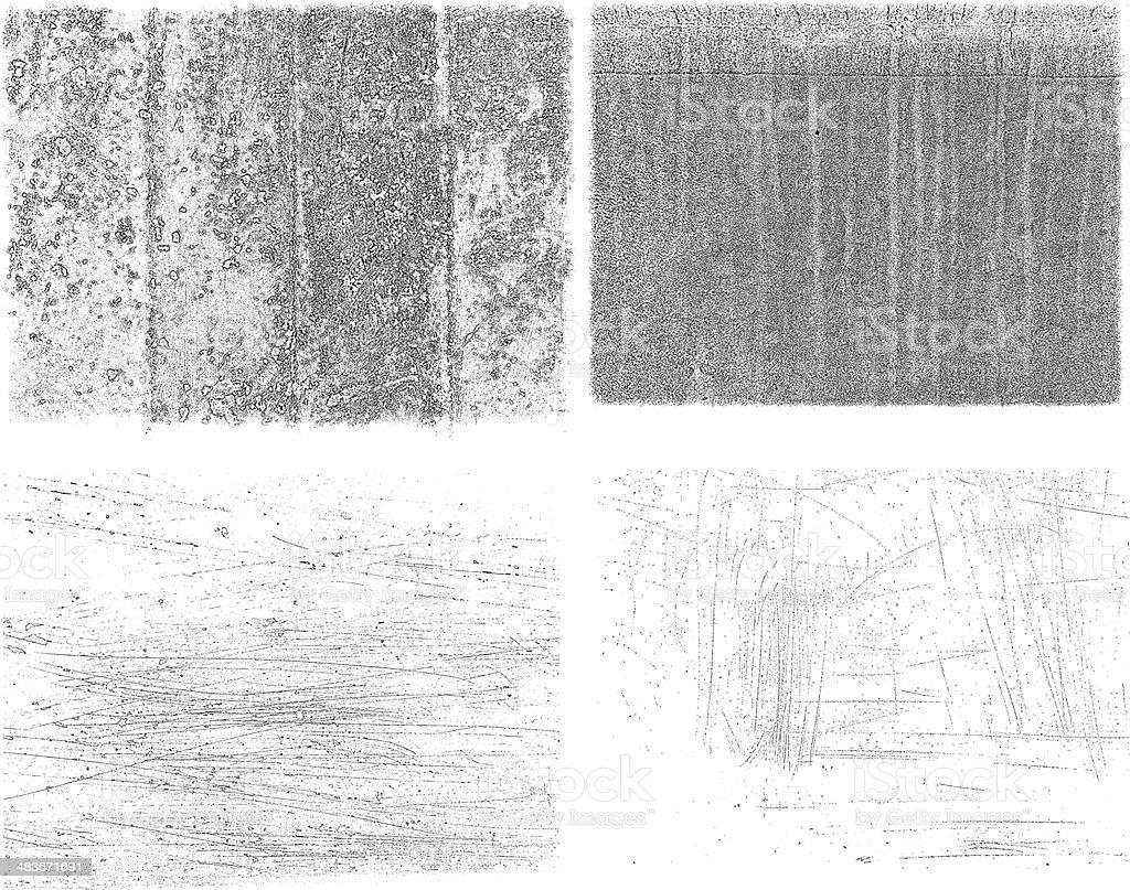 Grunge textures royalty-free stock vector art