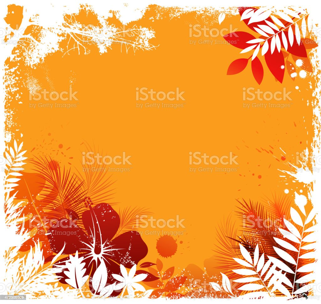 grunge tropical silhouette royalty-free stock vector art