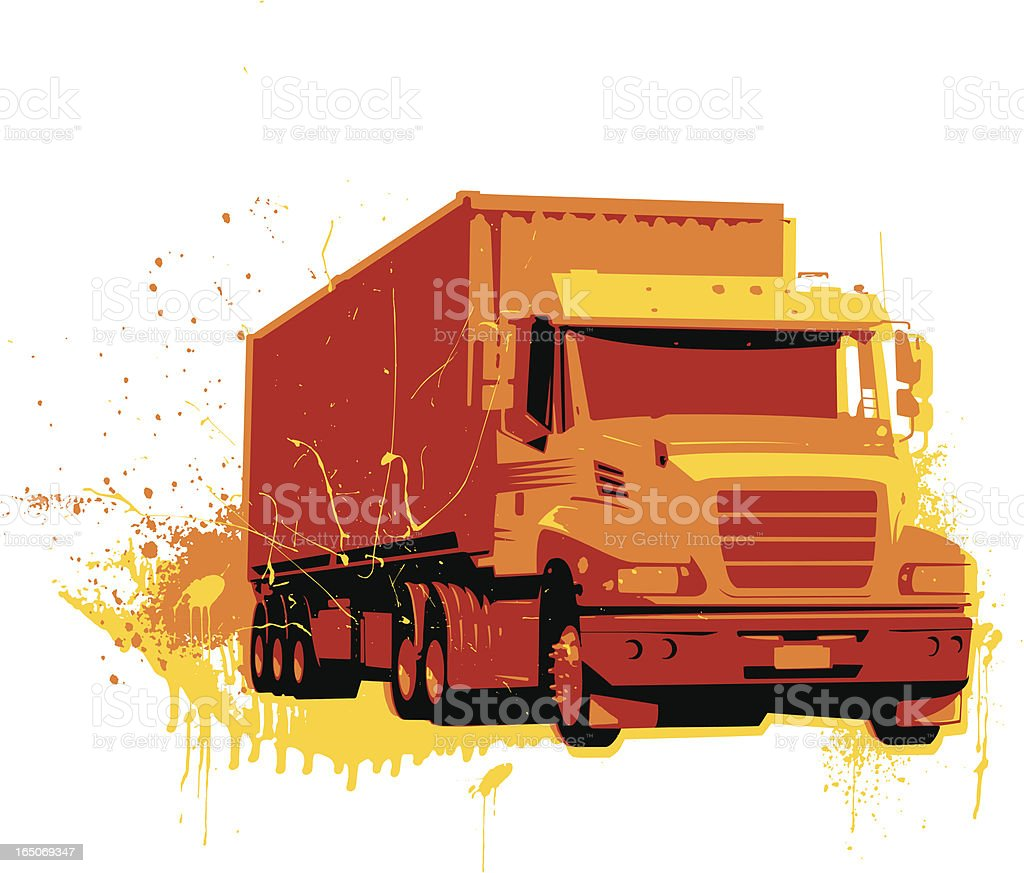 grunge truck vector art illustration