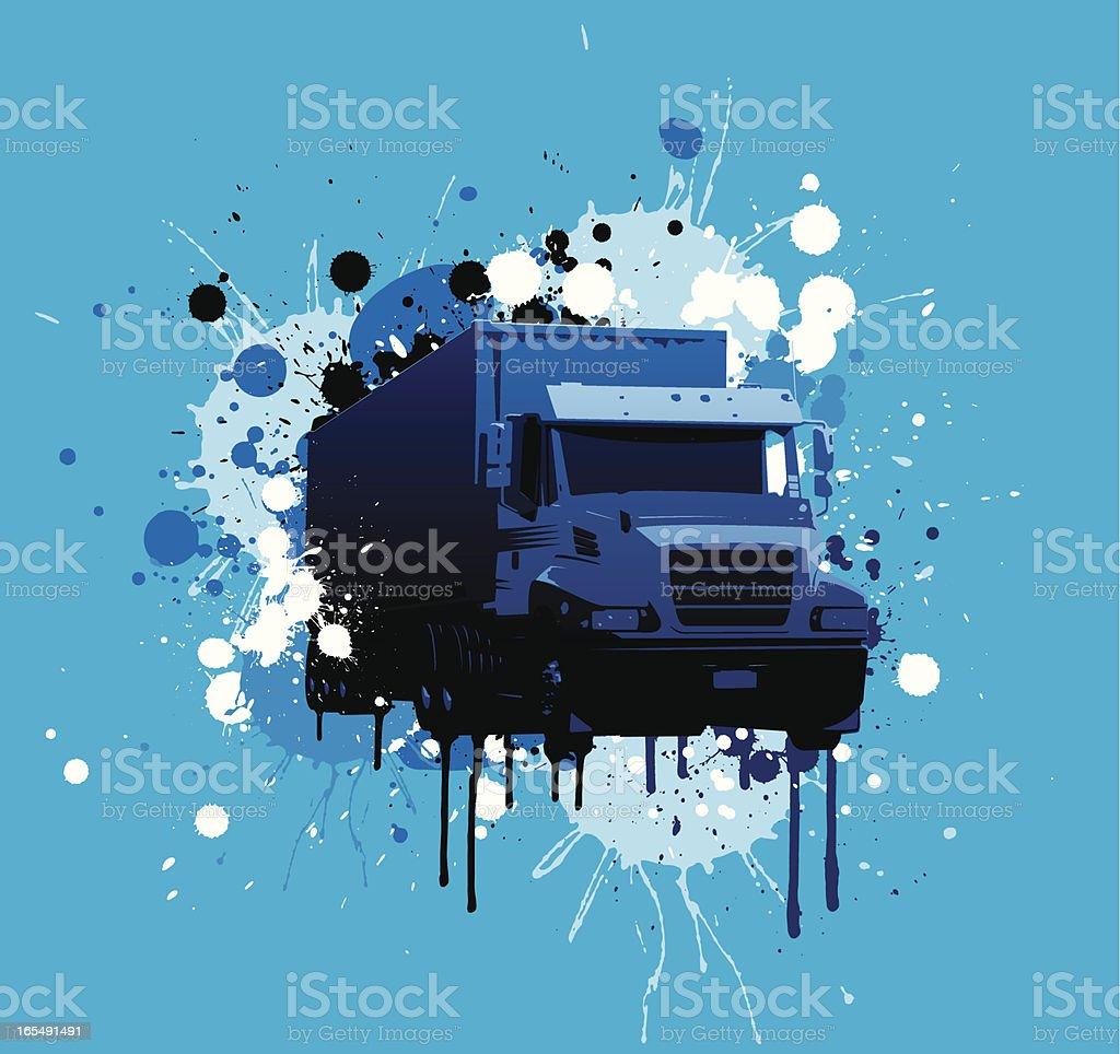 Grunge Truck royalty-free stock vector art