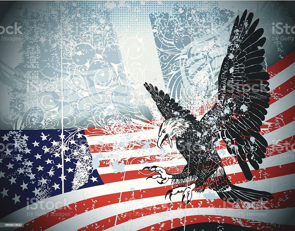 Grunge USA Background royalty-free stock vector art