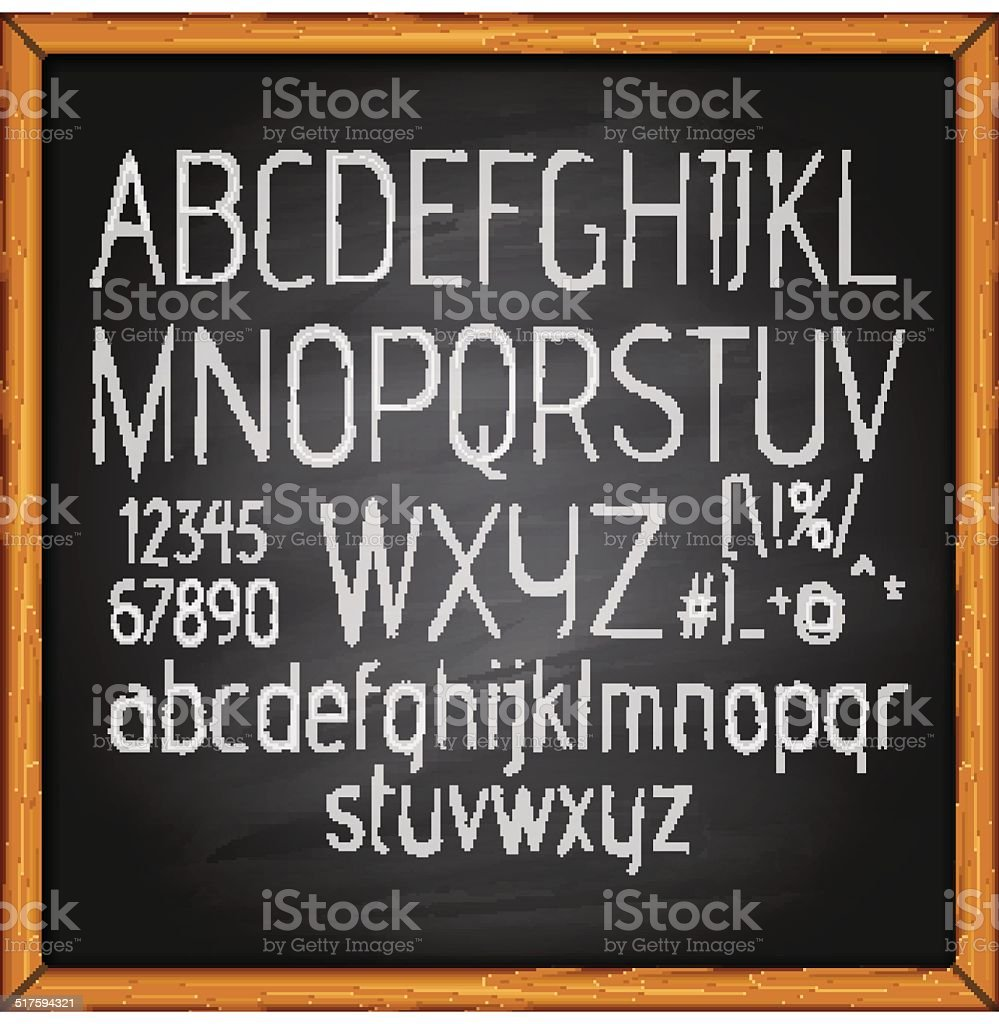 Grunge vector alphabet vector art illustration