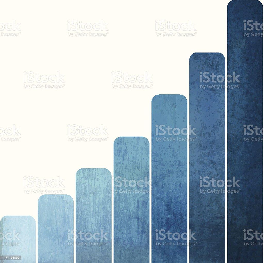 Grunge Vector Bar Chart royalty-free stock vector art