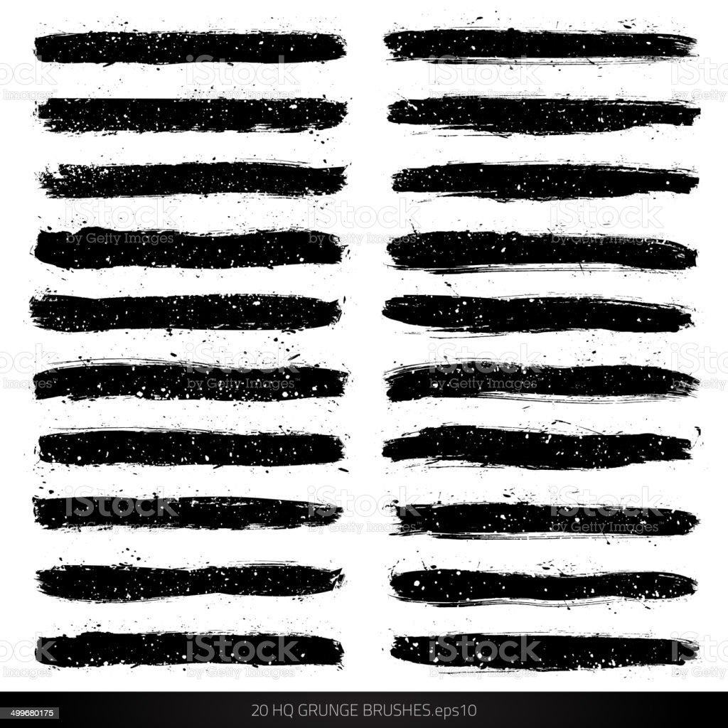 Grunge vector brushes vector art illustration