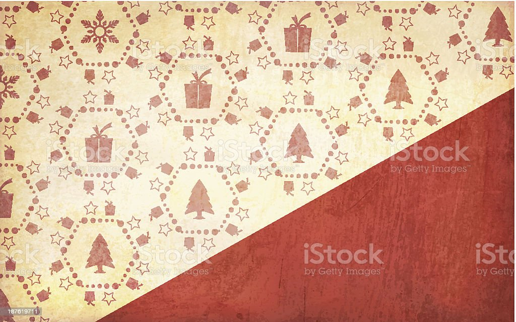 Grunge Vector Christmas Gift Background royalty-free stock vector art