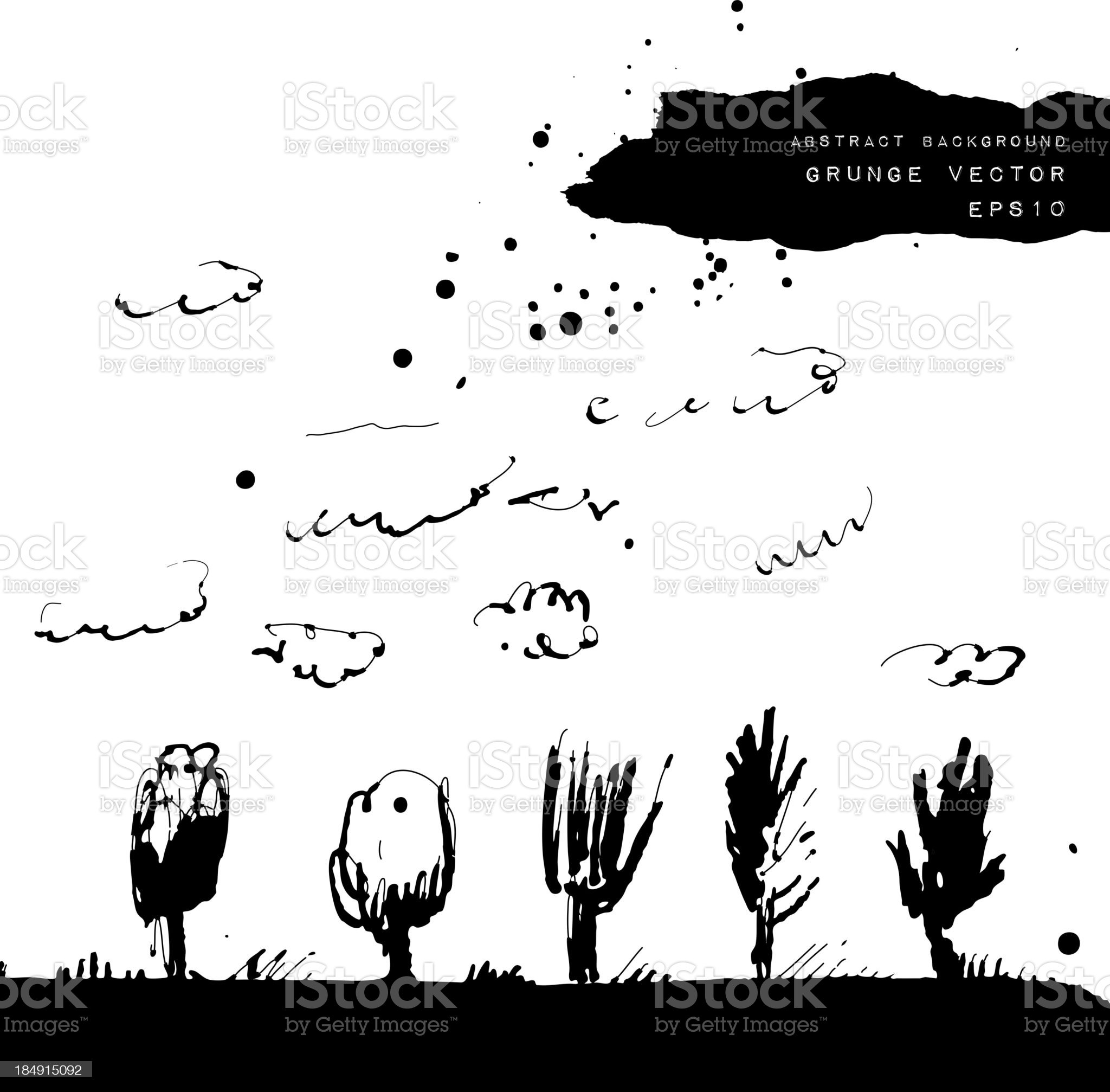 Grunge vector hand drawn background. royalty-free stock vector art